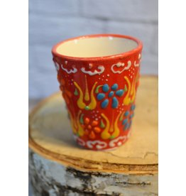 Black Sea Pottery Shot Glass (Red)