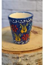 Black Sea Pottery Shot Glass (Dark Blue)