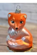 Glass Fox Holiday Ornament