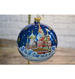 Glass Ball Ornament with St. Basil's Cathedral