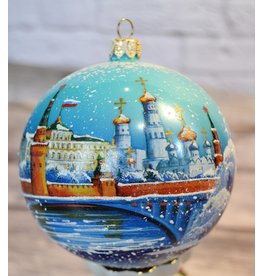 Glass Ball Ornament with Kremlin