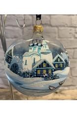 Glass Ball Winter Landscape Ornament