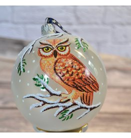 Owl Glass Ball Ornament