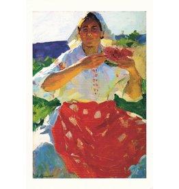 """Woman with a Watermelon"" Postcard"