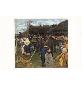 """Gorelov """"Village Scene"""" Postcard"""