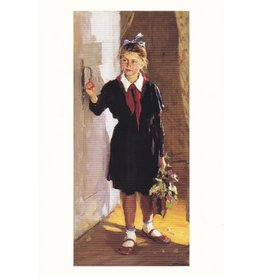 """Young Pioneer at the Door"" Postcard"