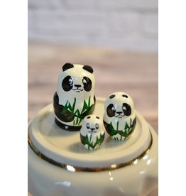 Mini Matryoshka Panda (Five-Piece)