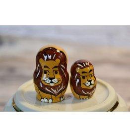 Mini Matryoshka Lion (Five-Piece)