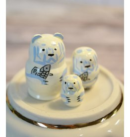 Mini Matryoshka Polar Bear (Five-Piece)