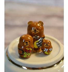 Mini Matryoshka Bear with Honey Pot (Five-Piece)