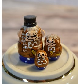 Mini Matryoshka Monkey (Five-Piece)