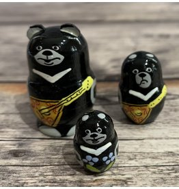 Mini Matryoshka Bear with Balalaika (Five-Piece)