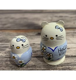 Mini Matryoshka Hello Kitty Blue (Five-Piece)