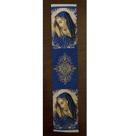 Madonna with Cross Bookmark (Blue)