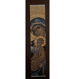 Virgin and Child Bookmark (Blue)