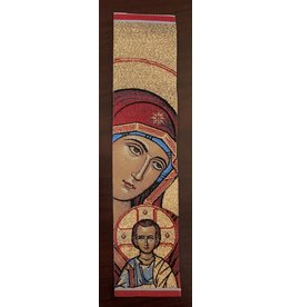Virgin and Child Bookmark (Red)
