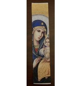 Madonna and Child Bookmark (White)