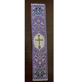 Purple Tapestry Religious Bookmark