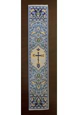 Blue Tapestry Religious Bookmark