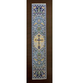 Blue Tapestry Religious Bookmark