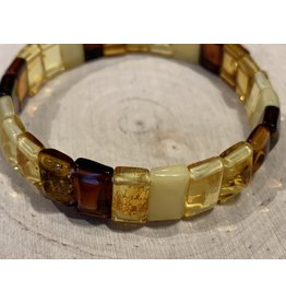 Multi-Color Amber Bracelet (Rectangles)