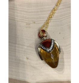 Fabergé Egg Necklace (Gold)