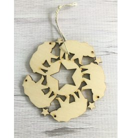 Birch Bear Snowflake Ornament
