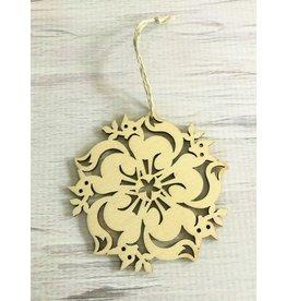 Birch Fox Snowflake Ornament