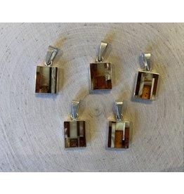Mosaic Amber Pendant (Small)