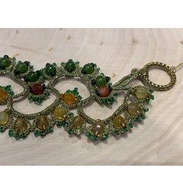 OVS Bracelet with Green Frivolite