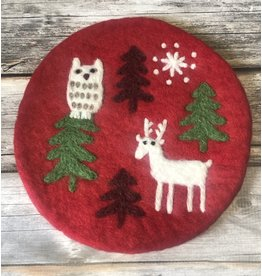 Holiday Forest Felt Trivet