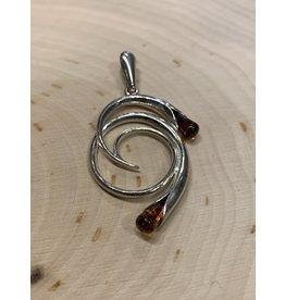 Amber Infinity Pendant