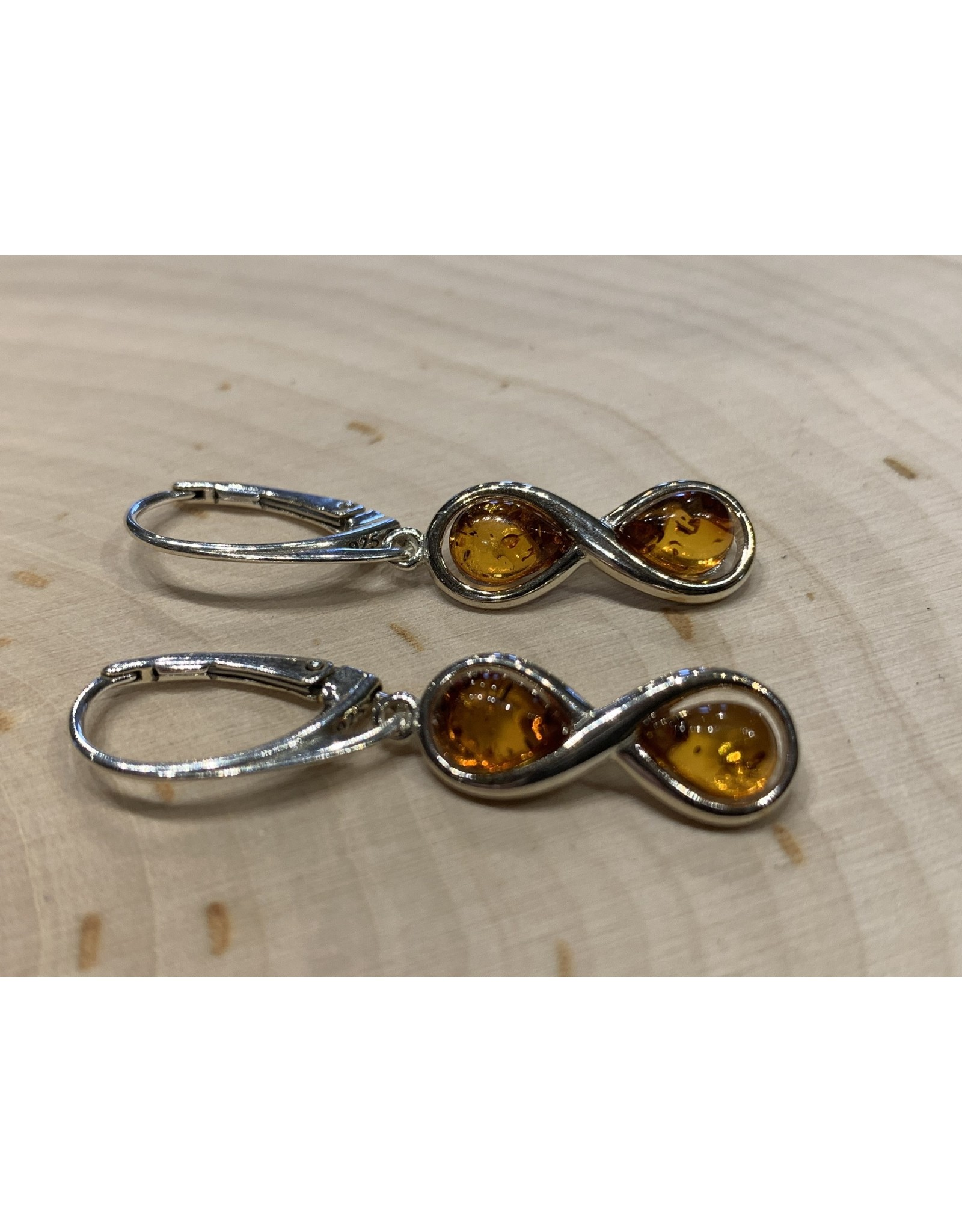 Amber Infinity Earrings