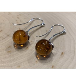 Amber Ball Earrings