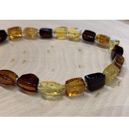 Multi-Color Amber Bracelet (Twist)