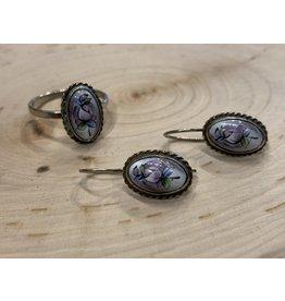OVS Finift Earrings (Purple)