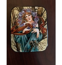 Lacquer Box with Spring Maiden