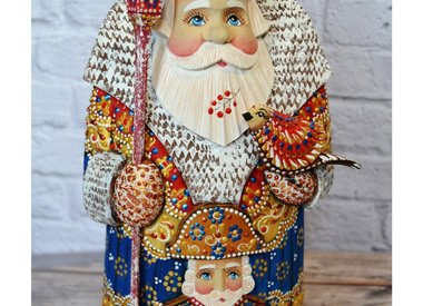 Hand Carved Russian Santas