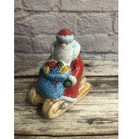 Kitmir Santa on Sled Small Figurine