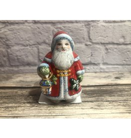 Kitmir Santa with Lantern in Red Figurine