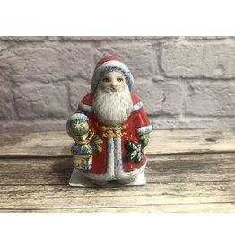 Kitmir Santa with Lantern in Red Figurine