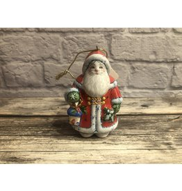 Kitmir Santa with Lantern in Red Ornament