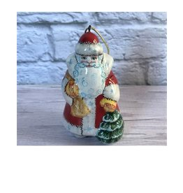 Kitmir Santa with Tree Ornament in Red