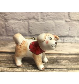 Kitmir Standing Dog with Bow Ornament