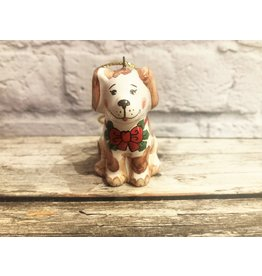 Kitmir Sitting Dog with Bow Ornament