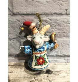 Kitmir Holiday Goat with Khokhloma Spoons Ornament