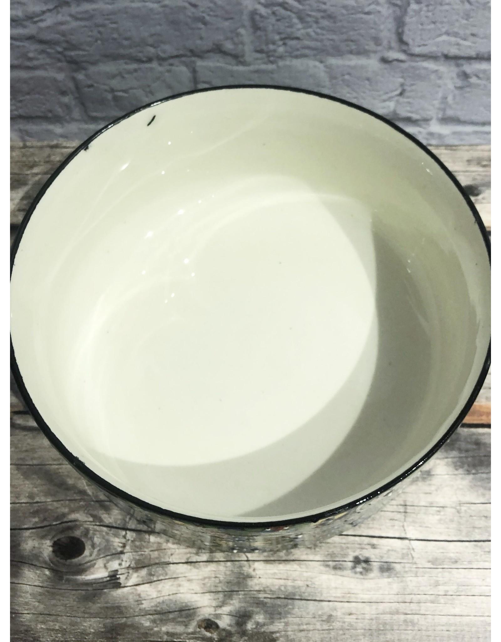 Black Sea Tapestry Bowl Green Medium