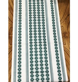 "Flora Table Runner Moss Green (48"")"