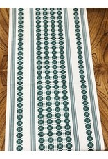 "Flora Table Runner Moss Green (36"")"