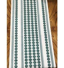 """Flora Table Runner Moss Green (36"""")"""